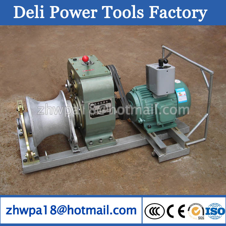 5T Cable Laying Equipment Electric Cable Pulling Winch Machine