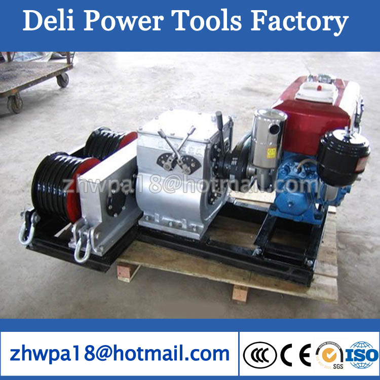 Cable Pulling Winches Cable Puller Winches Diesel engine power