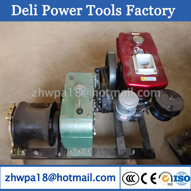 Diesel Engine Powered Winch Cable Pulling Winch Machine