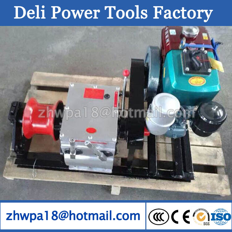 Diesel Engine Powered Hoist Winch Cable bollard winch
