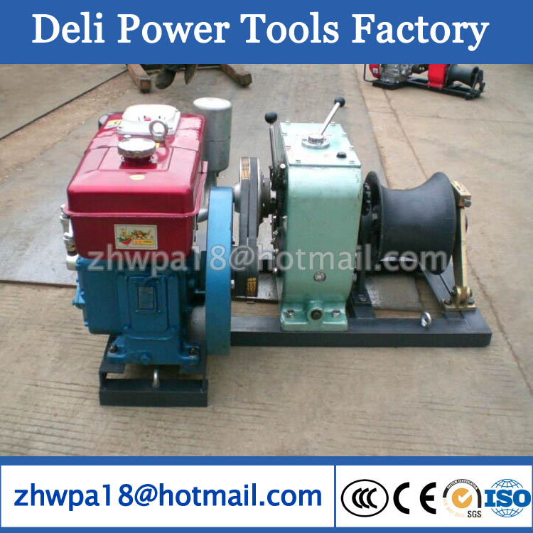 Diesel Engine Cable Pulling Winch Machine heavy duty 8T