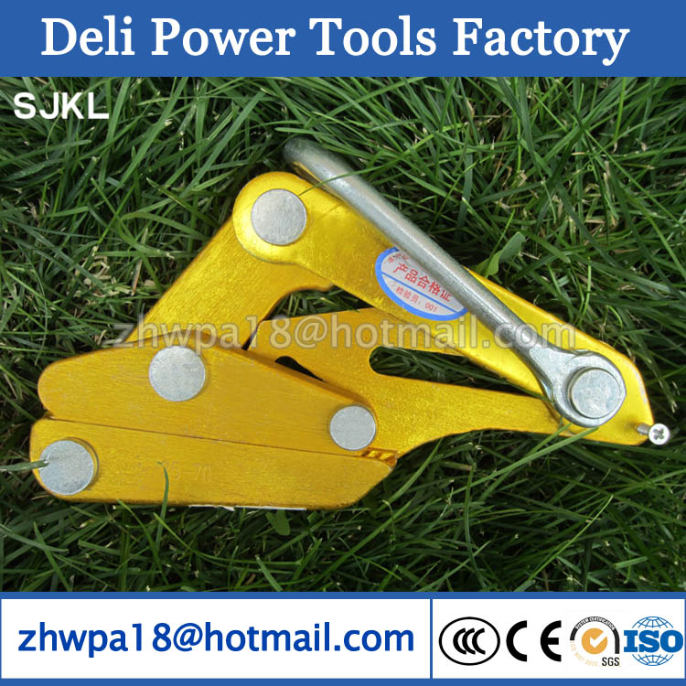 Grip safety clamp Clamping tool for copper and steel wire