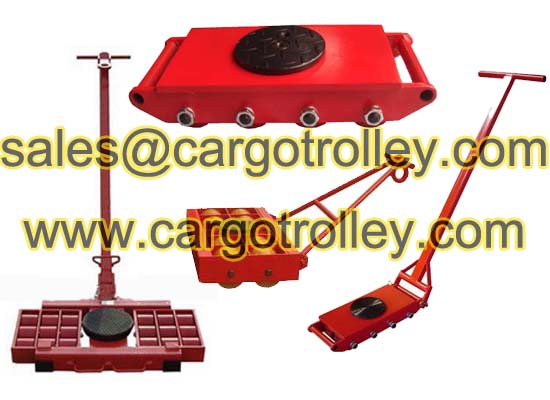 Machinery moving skates suitable for moving works
