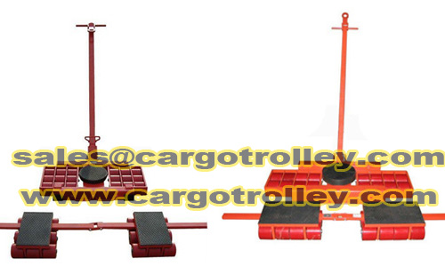 Cargo trolley applied on moving and handling works