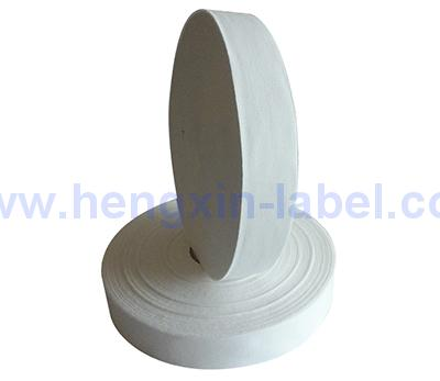 Natural White Starched Poly Cotton Label