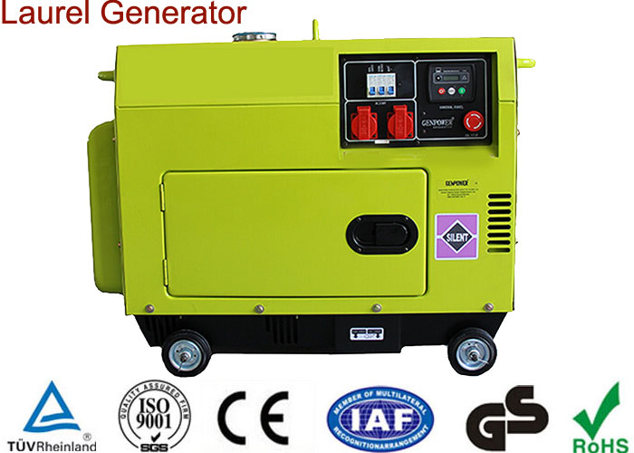 Portable Diesel Generator 5KW Low Operating Temperature
