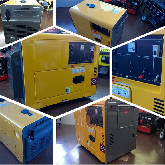 5kva Silent Diesel Gensets Air-cooled
