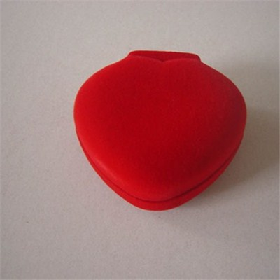 Red Heart Shape Jewelry Ring Box