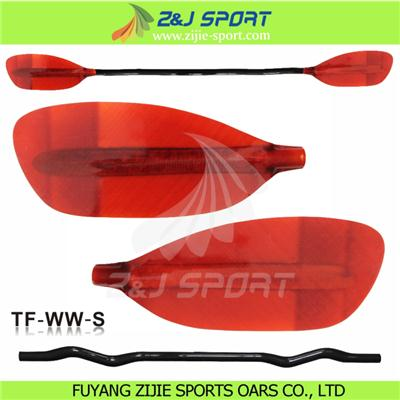 Red Transparent Whitewater Paddle