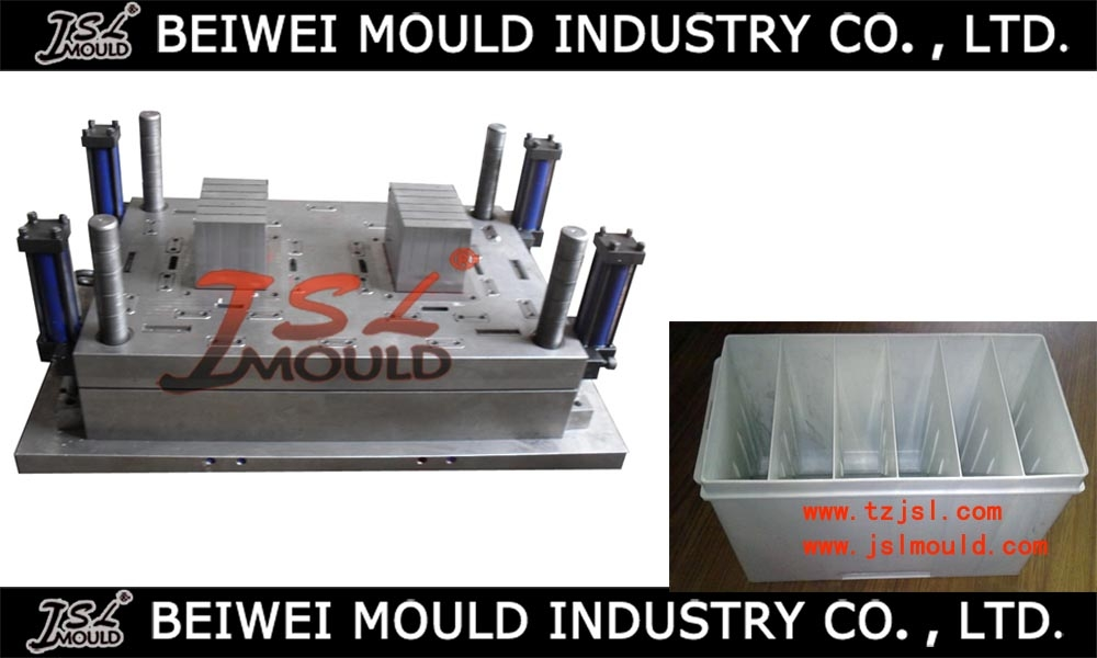 Injection plastic car battery container mould
