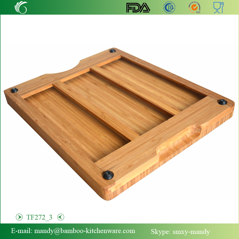 Interesting Bamboo Cutting Board with 6pcs PP mats