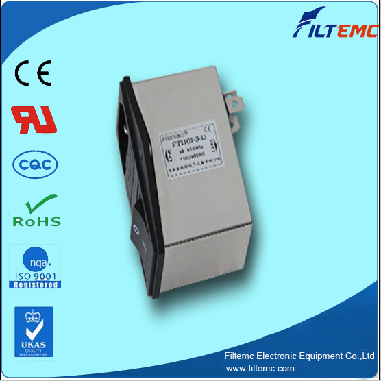 sell IEC socket filter with fuse and switch control/EMI filter
