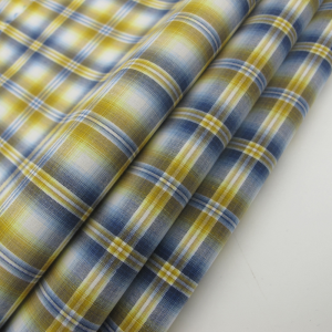 Cotton Nylon Check Shirt Fabric