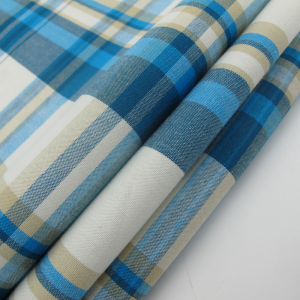 Yarn Dyed Fashion Check Shirting Fabric