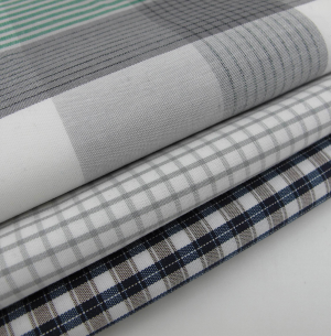 Yarn Dyed Poplin Fabric Plaid