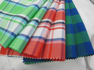 Yarn Dyed Check Fabric 100% Cotton