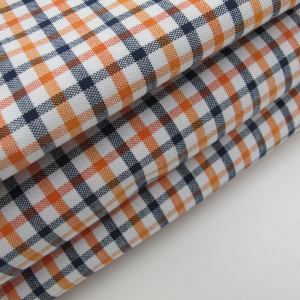 Cotton Oxford Check Spandex Fabric