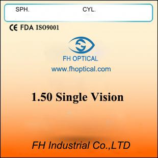 1.50 Single Vision Lens for eyeglasses (SPH)