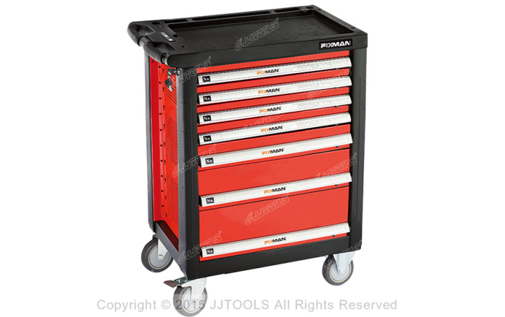 7 Drawers Roller Cabinet With Plastic Worktop