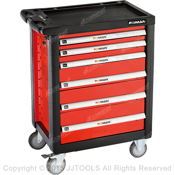 6 drawer storage cabinet 6 Drawers Roller Cabinet With Plastic Worktopv