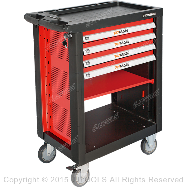 4 Drawers Roller Cabinet With Plastic Worktop