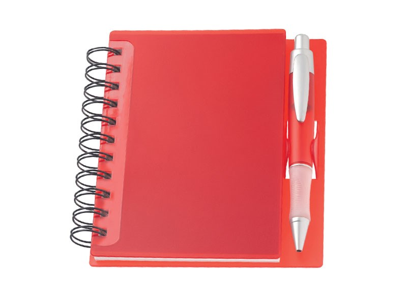 Red promotional spiral office notebooks