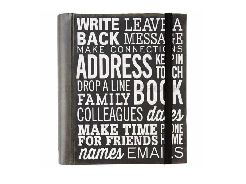 Black Leather Address Journal