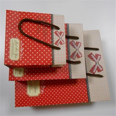 Three Pcs Paper Shopping Bag Set