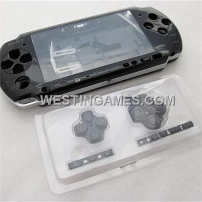 Complete Housing Shell Case Spare Part Black For PSP 3000