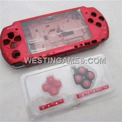 Complete Housing Shell Case Replacement Red For PSP 3000