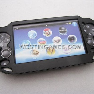 Protect Plastic Aluminum Cover Case For Playstation Vita PSVita - Black