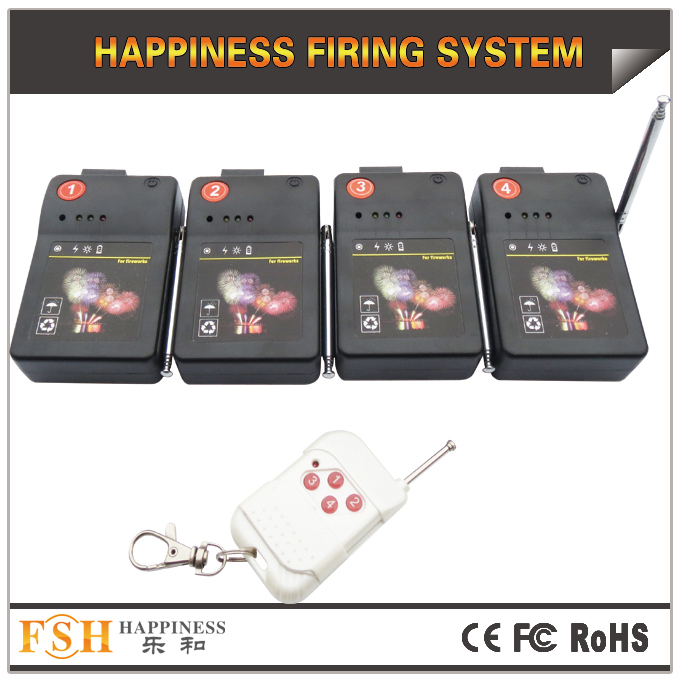 CE passed , 4 channels remote firing system,with antenna