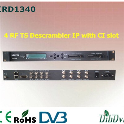 4CH DVB-S2 IRD And Descrambler