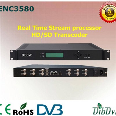 8 Channels MPEG2/H.264 HD/SD Transcoder