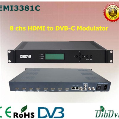 8 Channels HDMI H.264 HD RF Modulator