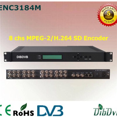 8 In 1 Low Latency MPEG-2/H.264 SD Encoder