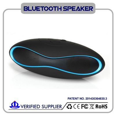 Mini Portable Bluetooth Speaker With Rugby Design/FM Radio/TF Card