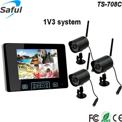 TS-708C 1V3 wireless monitor system