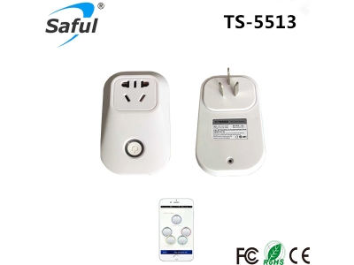 Saful TS-5513 Wireless Socket Plug controlled by app