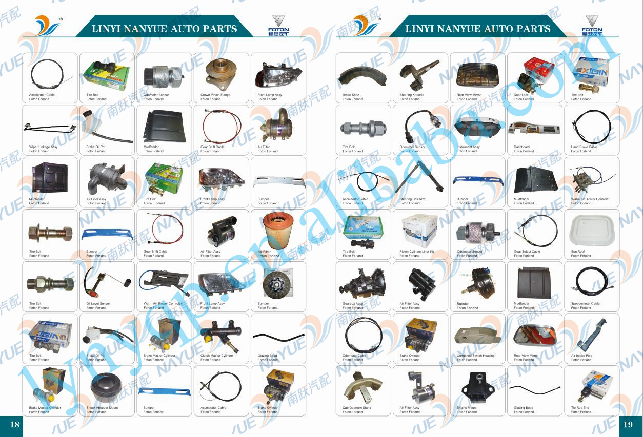 Hot sell FOTON TRUCK PARTS