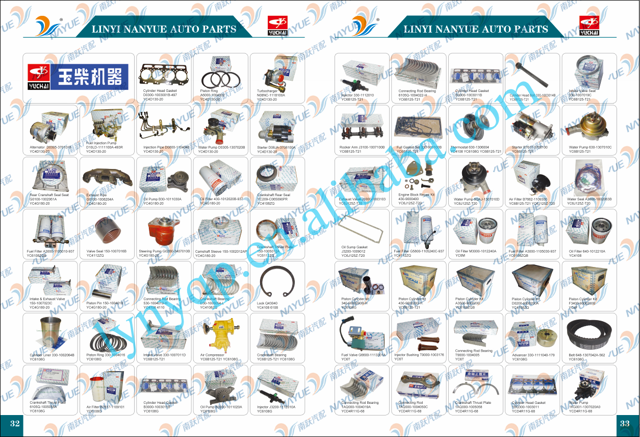 YUCHAI MACHINE Diesel Engine Parts