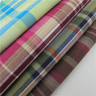Yarn Dyed Check Fabric With Lurex