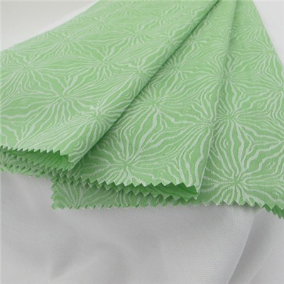 100% Cotton Green Jacquard Shirting Fabric