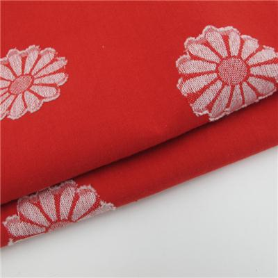 100% Cotton Floral Jacquard Fabric