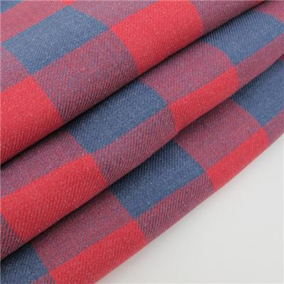 Yarn Dyed Red Plaid Fabric 100% Cotton