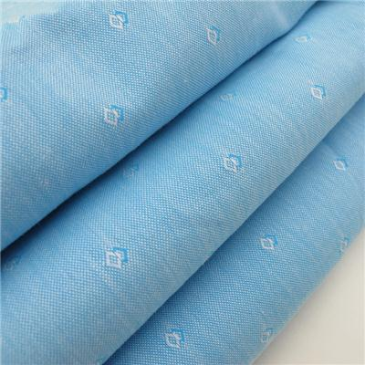 Cotton Woven Dobby Shirt Fabric Light Blue