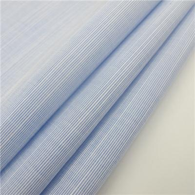Yarn Dyed Stripe Slub Fabric For Men's Shirt