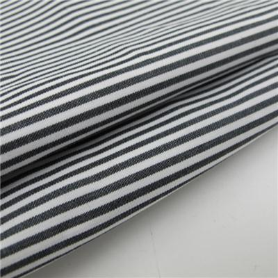Yarn Dyed Black And White Stripe Cotton Fabric