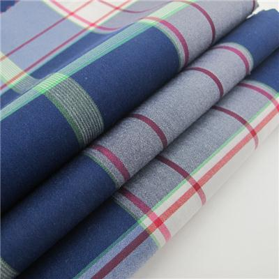 Nylon Cotton Spandex Fabric Plaid Style For Shirt