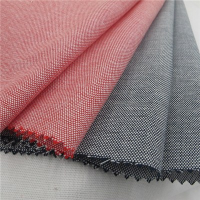 100% Cotton Double Warp And Weft Oxford Chambray Fabric